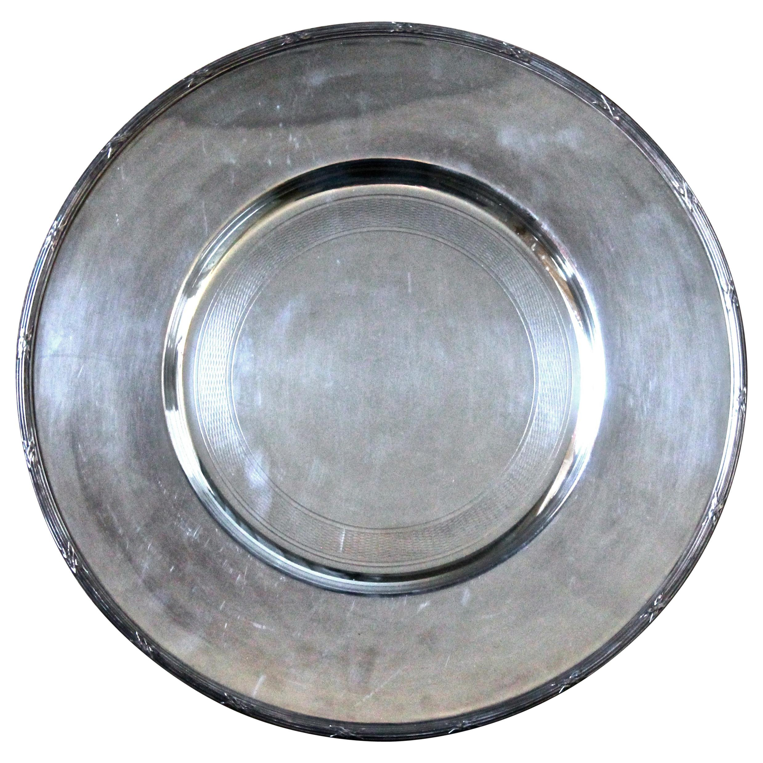 Christofle France Silver Plated Plate
