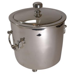 Christofle Gallia, Paris, Silver Plated Insulated Ice Bucket