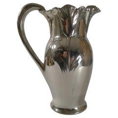 Christofle Gallia Silver Plated Jug / Pitcher - Tulips c.1910