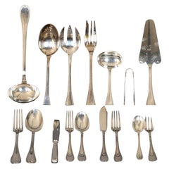 "Christofle ""Malmaison"", Flatware Silver Plated 108 Pieces"
