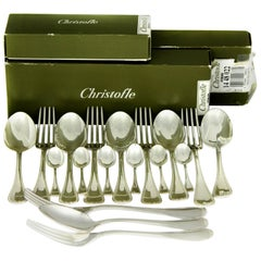 Christofle, Malmaison Sterling Silver 18-Piece Set of Spoon, Fork & Tea-spoon