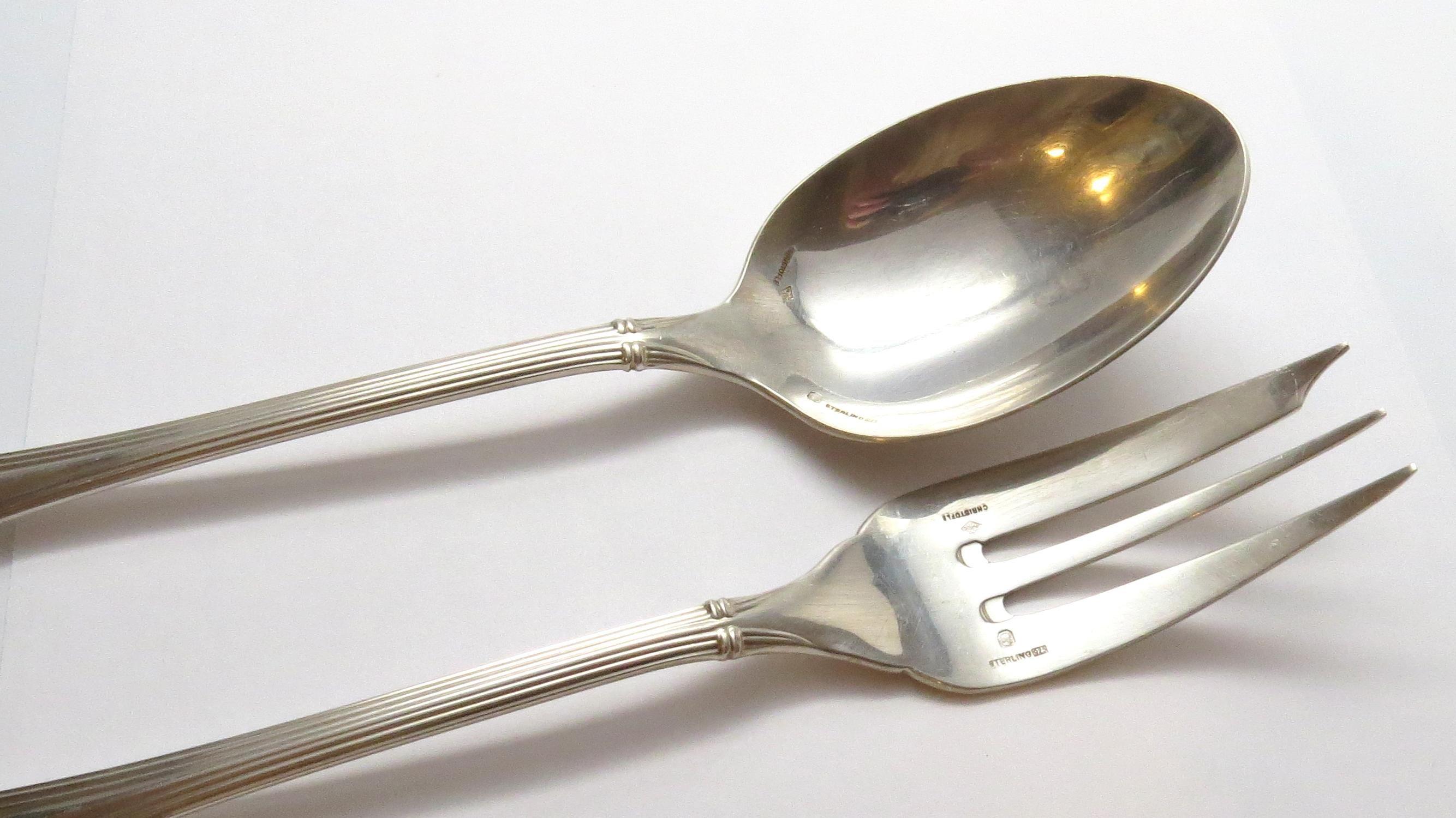 """Fish Fork 7/"""" Oceana by Christofle Sterling Silver Salad Fork"""