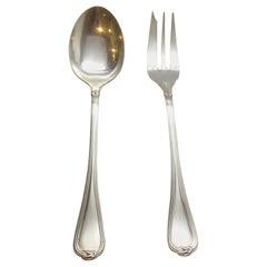 Christofle Oceana Sterling Silver Salad Serving Set