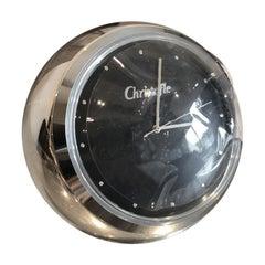 Christofle Silver Boulle Desk Clock