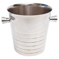Christofle Silver Plate Champagne Ice Bucket Wine Cooler Barware