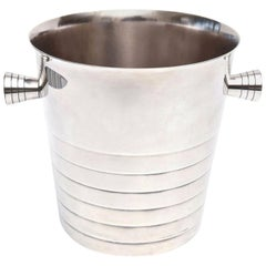 Christofle Silver Plate Champagne Ice Bucket Wine Cooler Barware Vintage