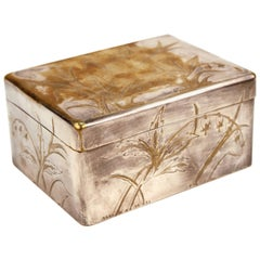 Christofle Silver Plated and Incised Trinket Box