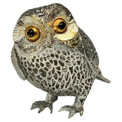 Christofle Silver Plated Lumiere D'Argent Owl Figurine