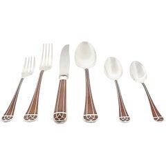 "Christofle ""Talisman"" Cutlery Flatware Sienna 112 Pièces"