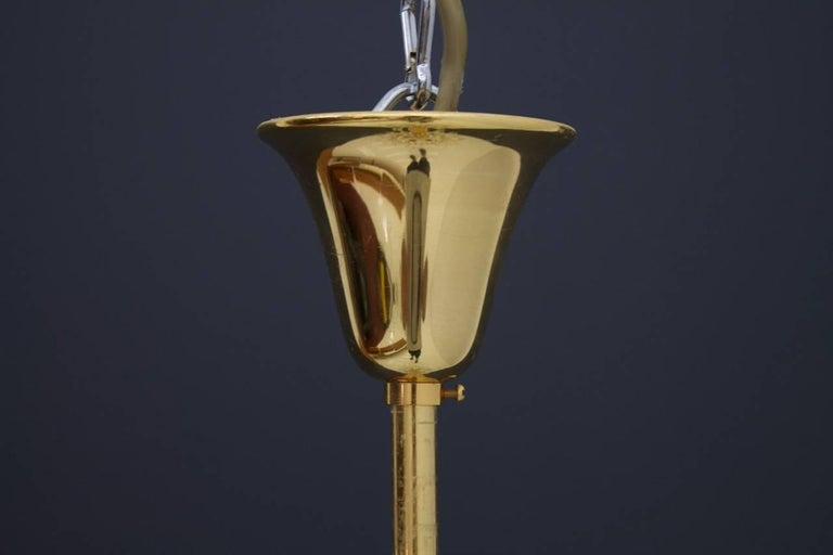 PALWA Christoph Palme Chandelier Gilded Brass and Crystal Glass For Sale 3