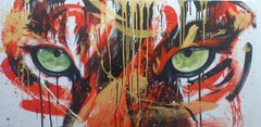 Ruby (Regard de Tigre), acrylic on canvas