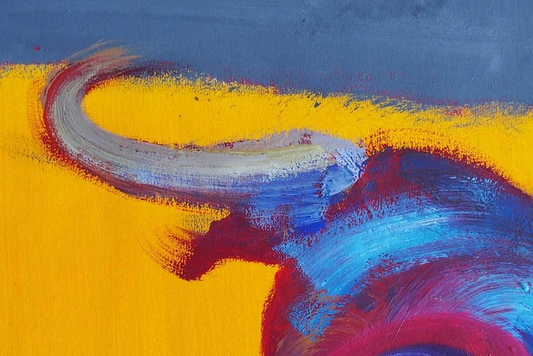 Bull VI by C. Dupety - bullfighting, contemporary painting, work on paper - Contemporary Painting by Christophe Dupety