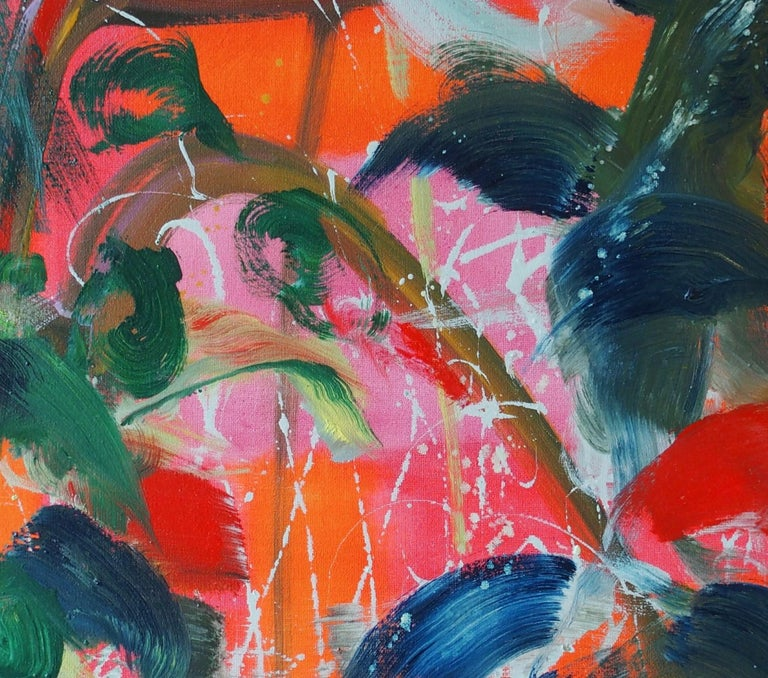Saïgon by Christophe Dupety - Contemporary painting, Flora, Bright colors For Sale 2