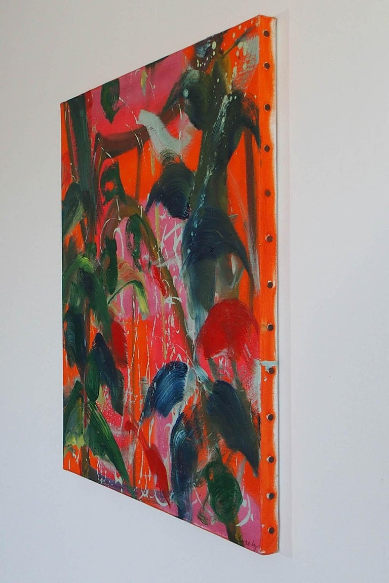 Saïgon by Christophe Dupety - Contemporary painting, Flora, Bright colors For Sale 3