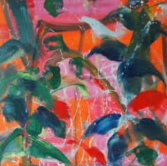 Saïgon by Christophe Dupety - Contemporary painting, Flora, Bright colors