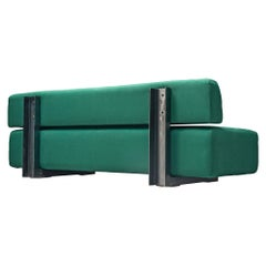 Christophe Gevers Postwar Sofa in Persian Green Fabric