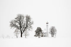 Arbre et église (Snowscape, Snowy Landscape, White Snow, Winter, Trees)
