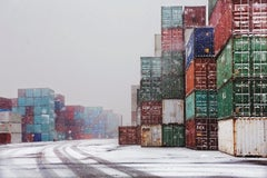 Boxes 3 - Shipping, Containers, Docks, Snow, Winter, Travel photography, Print