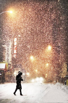 Coton -  Contemporary Photography, Color Print, Snowscape, Winter, City