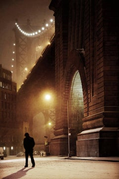 Dumbo - Contemporary Photography, Snowscape, Cityscape, Color Print