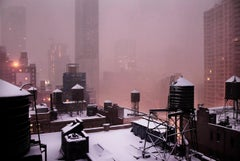 Pink Morning (New York in White) by Christophe Jacrot - urban photography, snow
