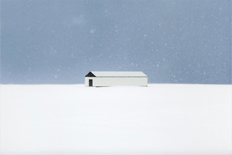 The Farm (La ferme) by contemporary photographer Christophe Jacrot. Fine Art print on Etching Hahnemühle paper. Sold framed under anti-reflective glass, museum quality. Prints available in two sizes: 70 x 105 cm (unframed) / 81 x 116 cm (framed) :