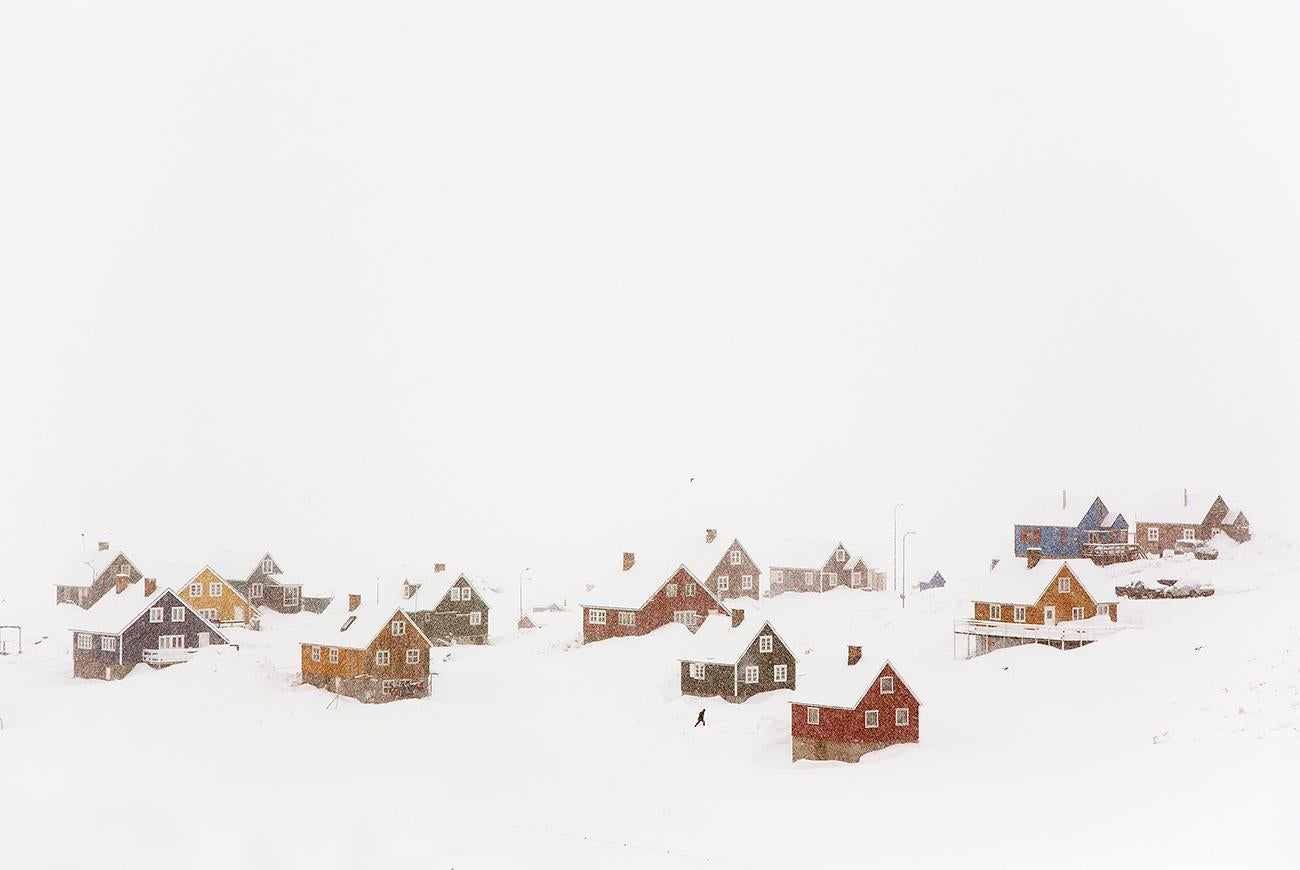 The Village (Blizzard 2) by Christophe Jacrot - Winter Landscape Photography