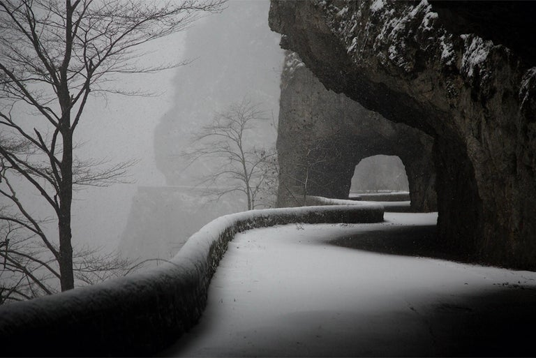 Tunnels, Vercors is a limited edition photograph by French artist Christophe Jacrot, form the series Vercors (France). The series features snowy landscapes in the French region of Vercors.  For many years now, photographer Christophe Jacrot has been