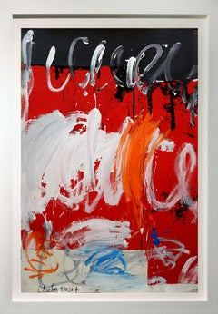 """Abstract composition with Red and White 54x37"""""""