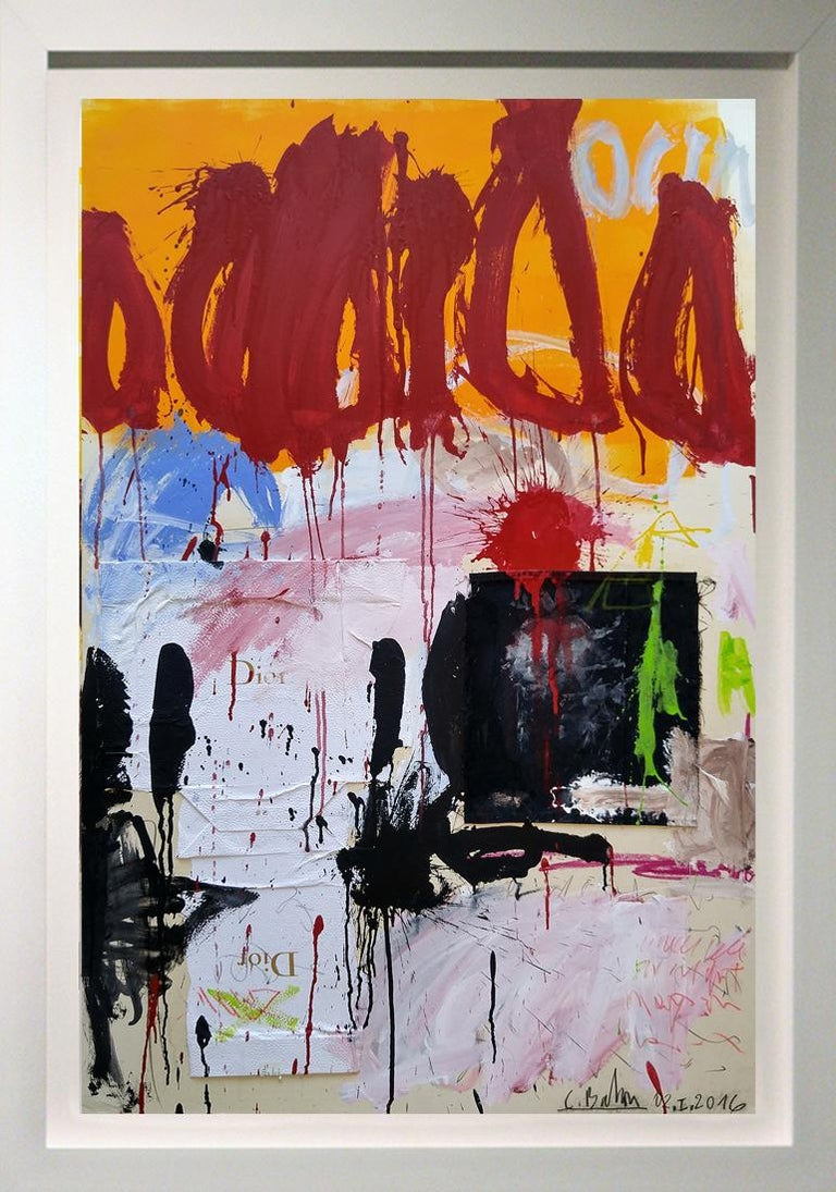 """Christophe Abstract Painting - """"Abstract Dior"""" as in Christian, 53x37,"""