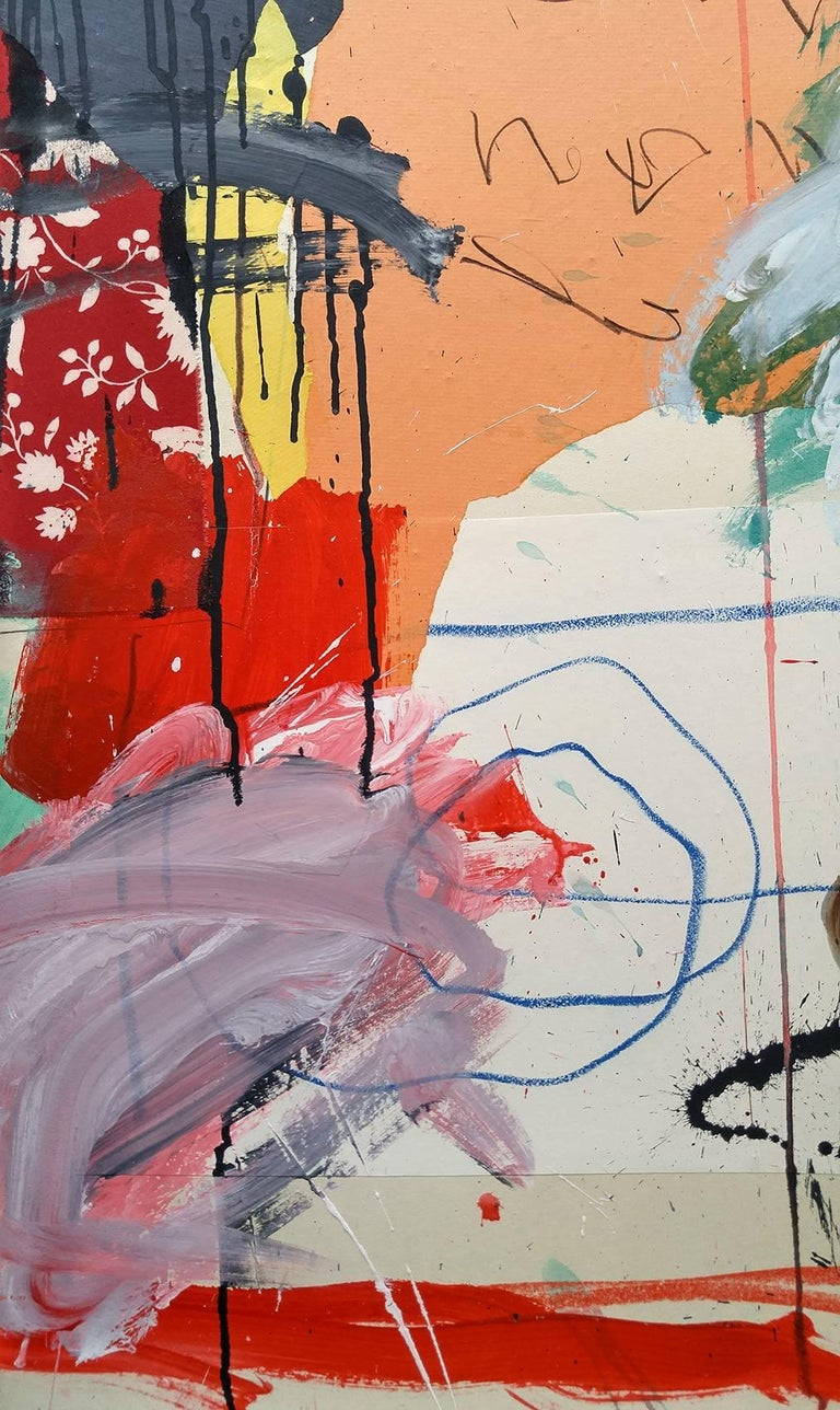 We are pleased to offer another impressive abstract expression painting by French abstract expressionist artist Christophe.     There is an excitement in the art world when you find the artist that is going to be the next big thing.   Christophe is