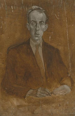Christopher Alexander (1926-1982) - Mid 20th Century Oil, The Gentleman