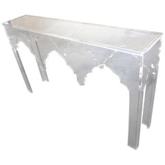 """""""Maroc"""" Lucite Console Table"""