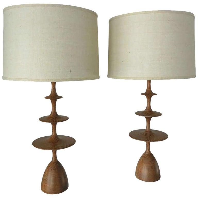 "Christopher Anthony Ltd. ""Metro"" Table Lamp in Cerused Light Oak For Sale"