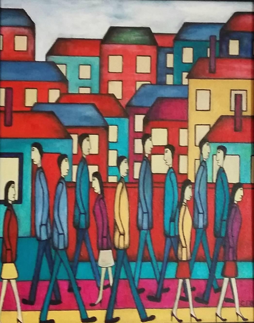Modern Life.  Contemporary Figurative Oil painting