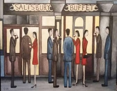Salisbury Arms. Contemporary Figurative Oil Painting