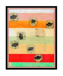 Christopher Brown Original Monoprint Painting Signed Abstract Large Modern Art