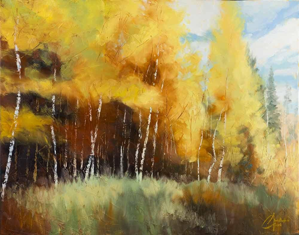 """""""Aspen Autumn II"""", Oil Painting"""