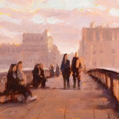 """Story of Paris Vol 2, no 5"", Oil Painting"