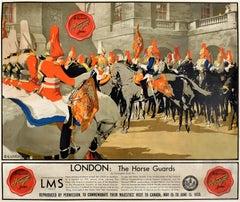 Original Vintage Poster London Horse Guards LMS Canada Royal Visit Forsyth Shirt