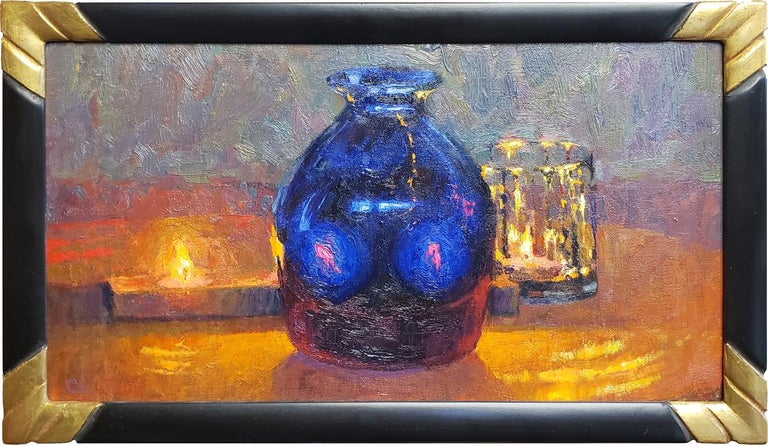 Christopher Cook Still-Life Painting - Blue Vision
