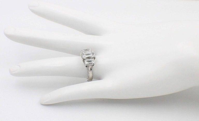 Women's or Men's Christopher Designs Crisscut Emerald Diamonds Engagement Ring 4.01 TCW Platinum For Sale