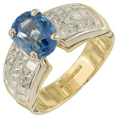 Christopher Designs GIA Certified 2.38 Carat Sapphire Diamond Gold Ring