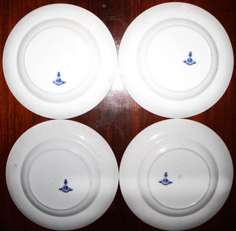 Aesthetic Movement Christopher Dresser Design Minton's 4 Dinner Plates For Sale