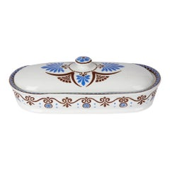 Christopher Dresser for Minton Pottery Lidded Bathroom Box, 1881
