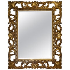 Christopher Guy Harrison and Gil Mirror Gold Hand Carved Giltwood Frame