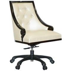 Christopher Guy Megeve Cream Leather Office Desk Captains Chair