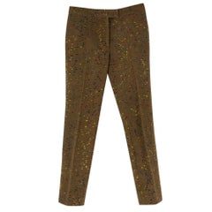 Christopher Kane crazy tweed skinny trousers SIZE 38 IT