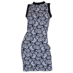 Christopher Kane Floral Print Fitted Knit Dress