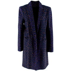 Christopher Kane Leopard-print Crombie Coat - Size US 10